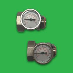 Komfort Manifold Ball Valve - Adaptor Temperature Gauge / Pair