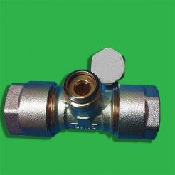 15 mm Lockshield Valve with Hexagonal Cap
