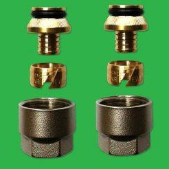 16/1.5 x 1 PAIR - Pex, Pert and Polybutylene Underfloor Manifold - Pipe Couplings