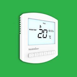 Heatmiser Slimline V2- Programmable Room Thermostat 230v