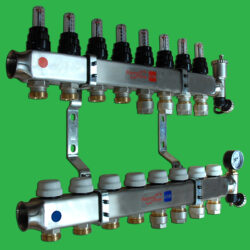 12 Port Warmflow Manifold, Flowmeters, Terminal Fittings and Pipe Couplings