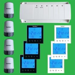 UFH Timed Zone Control Pack Touch Screen Thermostats and Actuators