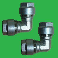 12 x 12mm / 1mm Wall Elbows (1 PAIR) - Pert Pipe